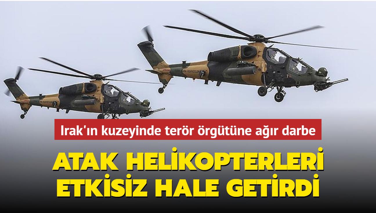 Irak'ın kuzeyinde terör örgütüne ağır darbe... ATAK helikopterleri etkisiz hale getirdi