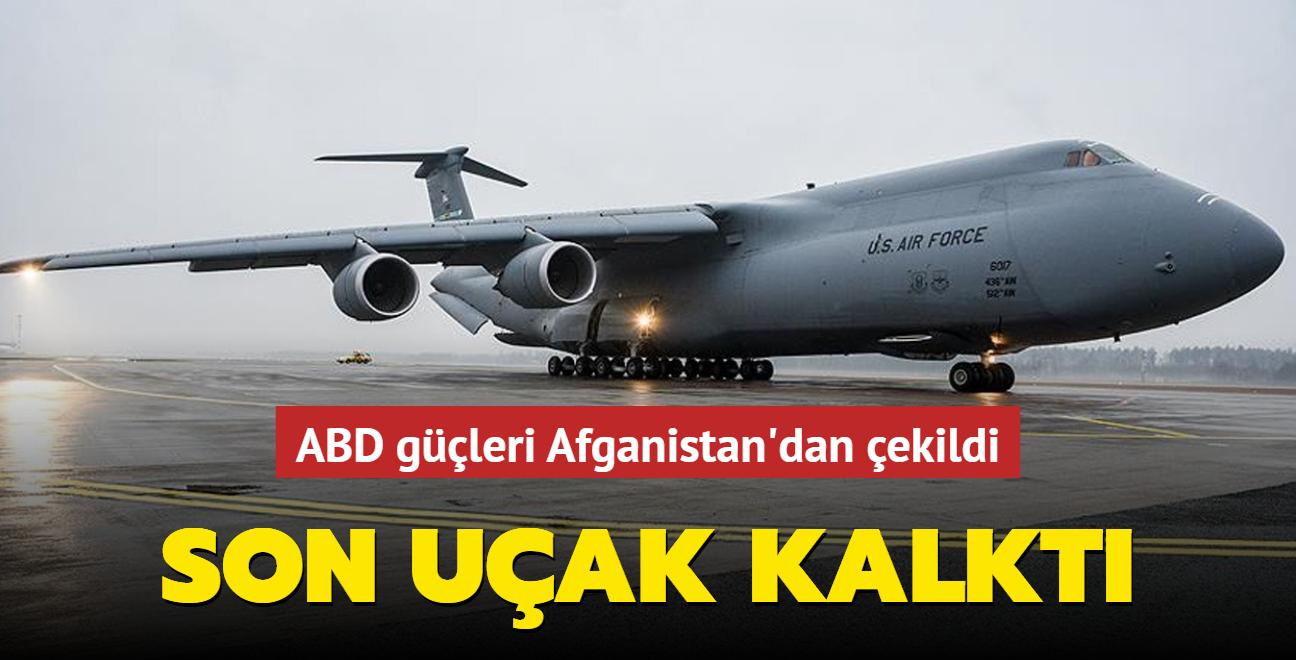 ABD güçleri Afganistan'dan çekildi