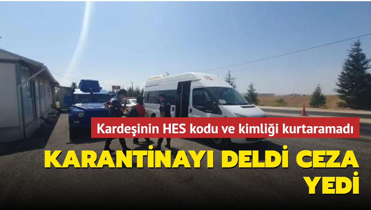 Eskişehir'de karantinayı ihlal eden kadına ceza kesildi