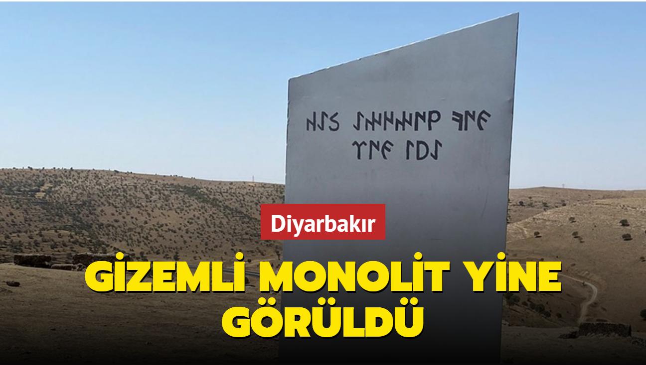 Gizemli monolit yine ortaya çıktı... Türkiye'nin uzaydaki iddiasının sembolü Diyarbakır'da