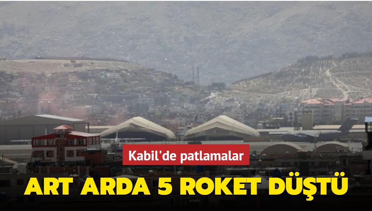 Kabil'de havalimanı çevresine art arda 5 roket düştü