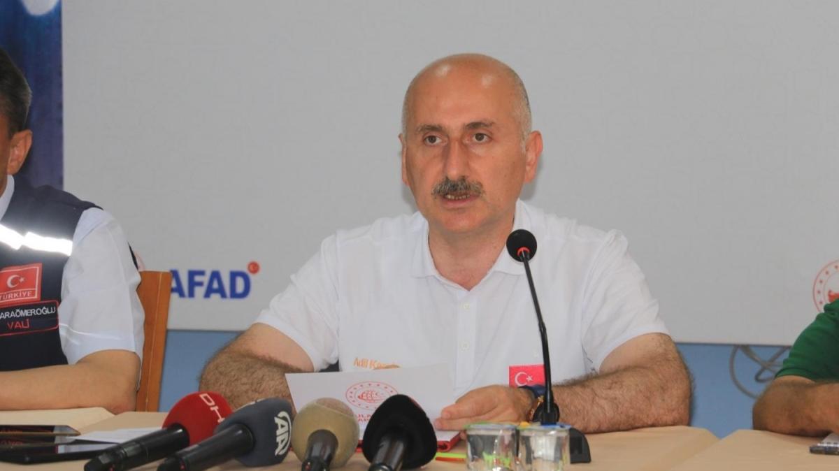 Bakan Karaismailoğlu sel felaketinin yaşandığı Sinop'ta açıklamada bulundu