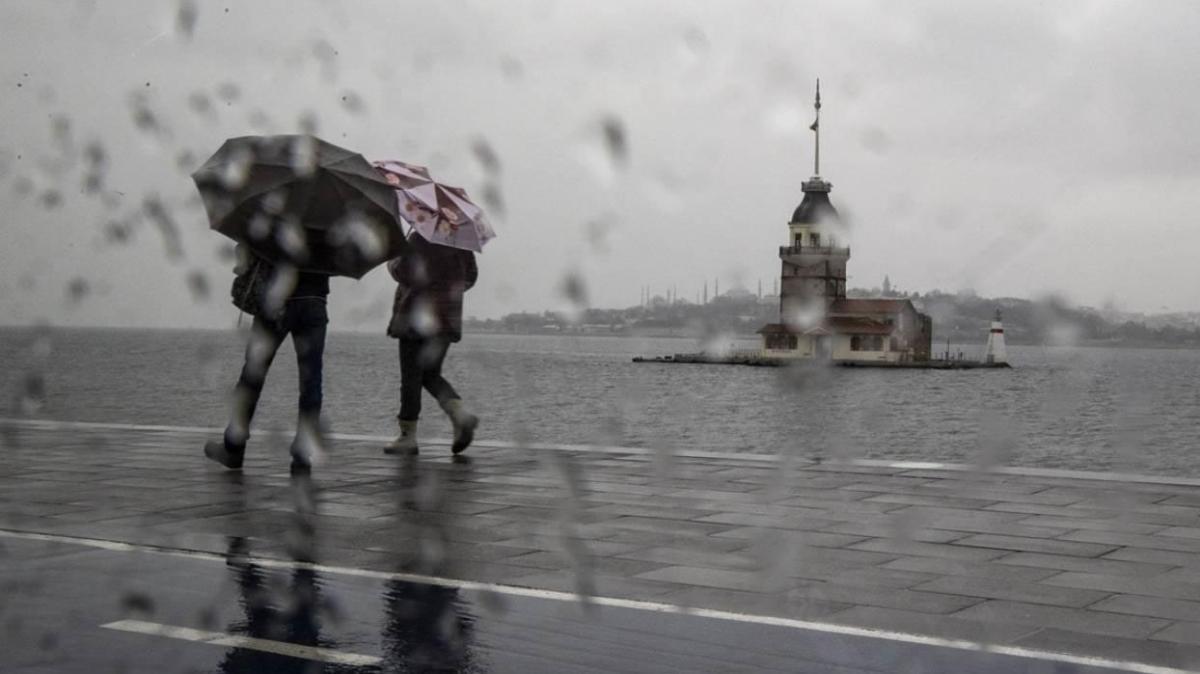 İstanbul ve çevre iller için sağanak tahmini yapıldı