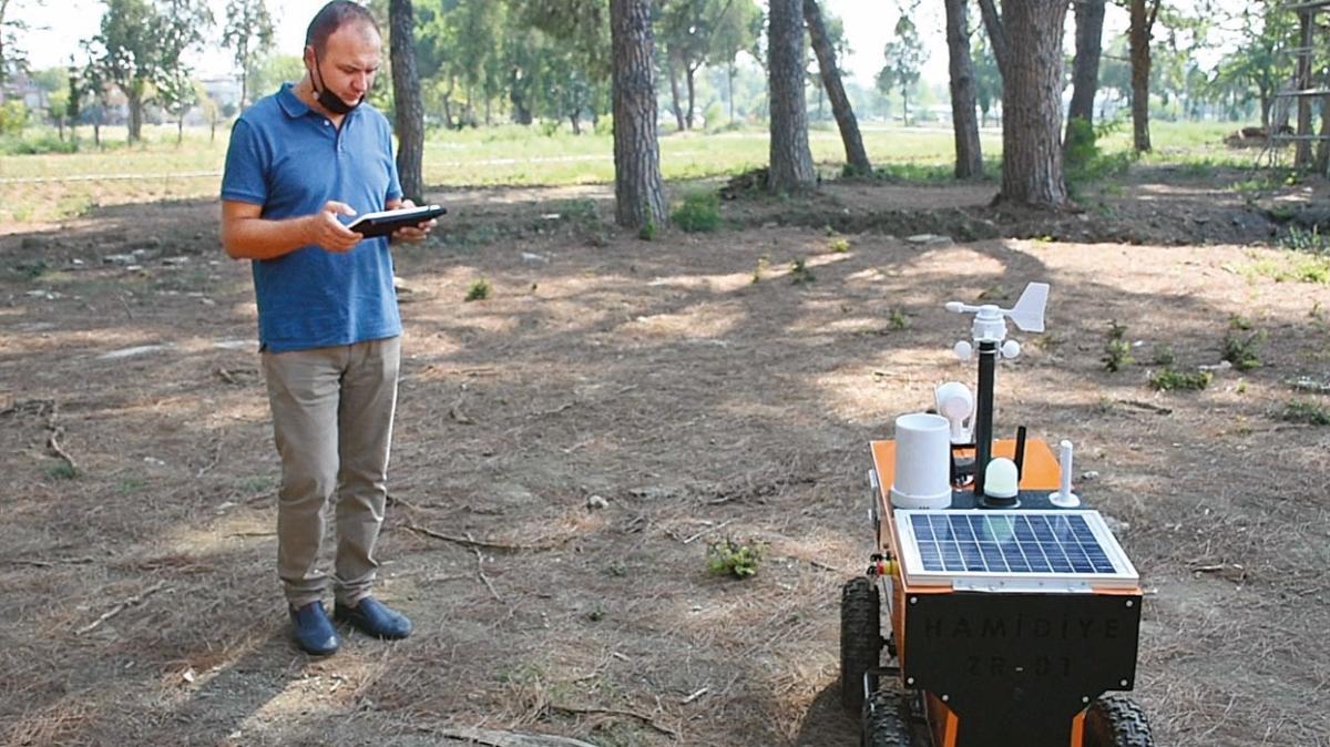 Lise öğrencilerinden akıllı tarım robotu
