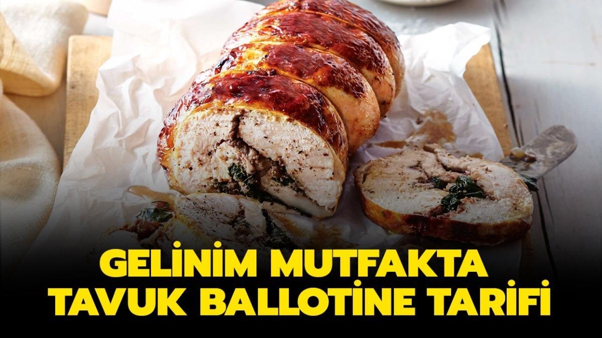 """Tavuk ballotine tarifi ve malzemeleri! Gelinim Mutfakta tavuk ballotine nasıl yapılır"""""""