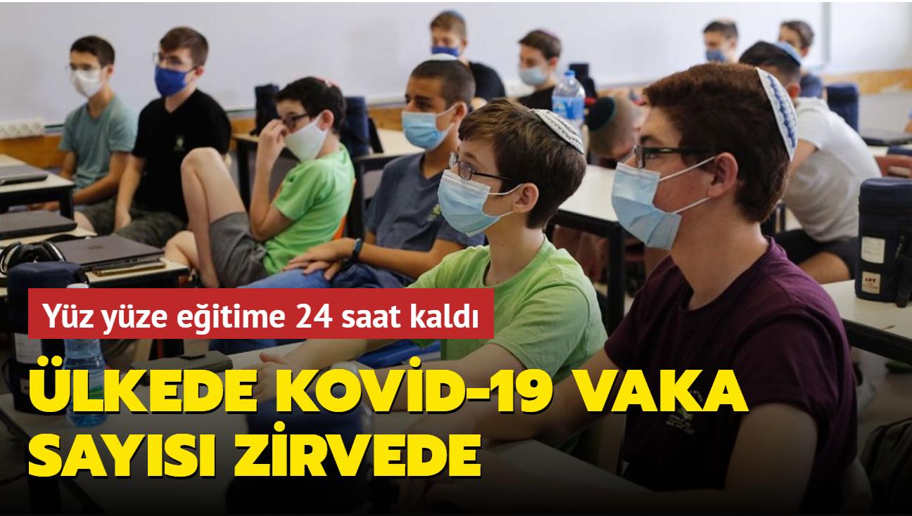 İsrail'de yüz yüze eğitime 24 saat kaldı... Ülkede koronavirüs vaka sayısı en yüksek seviyede
