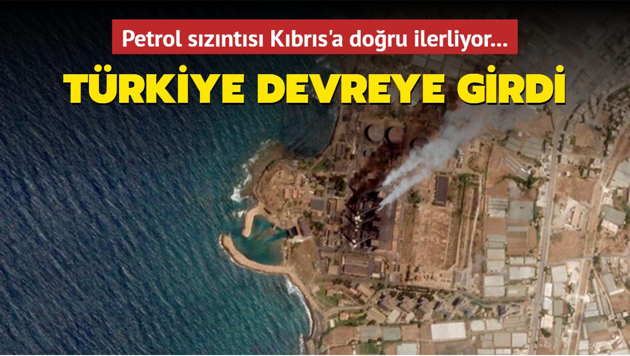 Petrol sızıntısı Kıbrıs'a doğru ilerliyor! Türkiye devreye girdi