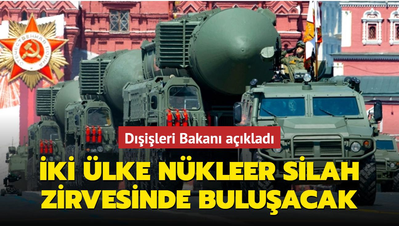 Rusya, ABD ile nükleer silahlar konusunu görüşecek