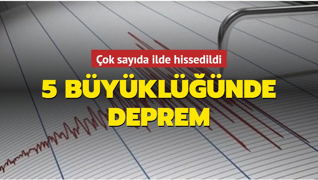 Kütahya'da 5 büyüklüğünde deprem... Eskişehir ve Ankara'da hissedildi