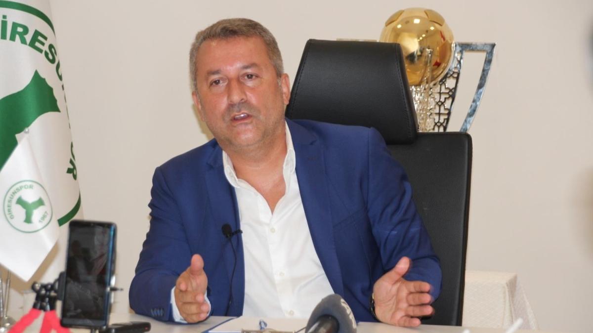 Giresunspor Başkanı Hakan Karaahmet: En az bütçeyle bir takım kurmak zorundayız, bundan başka bir senaryo yok