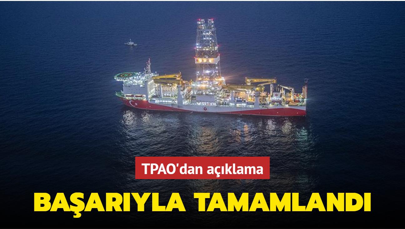 TPAO'dan açıklama... Türkali-2 tespit kuyusunda 2. rezervuar seviyesinde kuyu akış testi tamamlandı