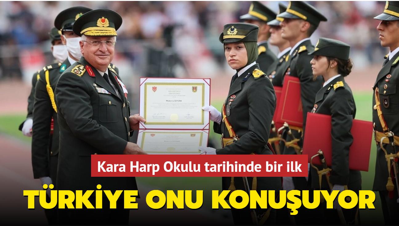 Türkiye Müberra Öztürk'ü konuşuyor! Kara Harp Okulu tarihinin ilk başörtülü subayı