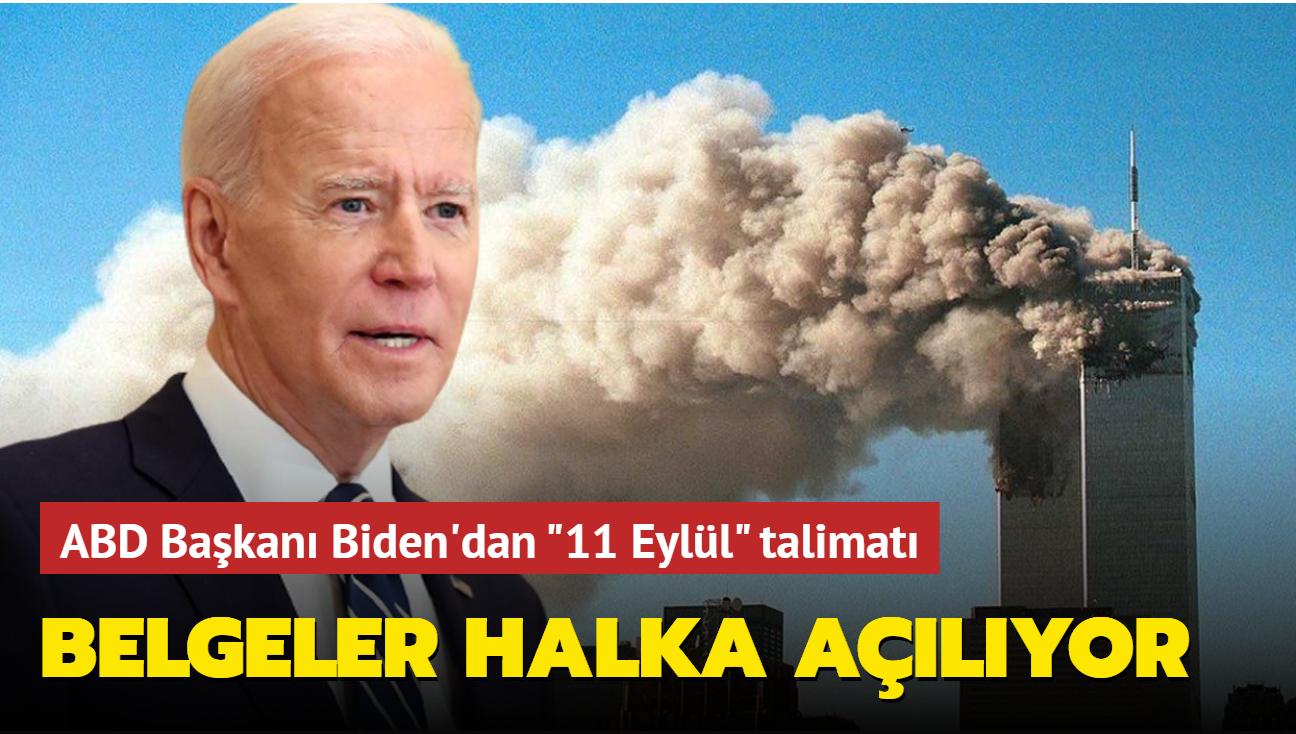 """ABD Başkanı Biden'dan """"11 Eylül"""" talimatı... Belgeler halka açılıyor"""