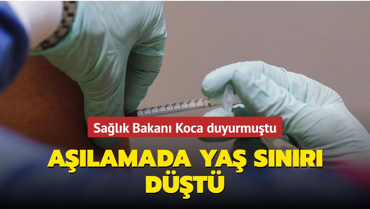 Sağlık Bakanı Koca duyurmuştu... Aşılamada yaş sınırı 12'ye düştü