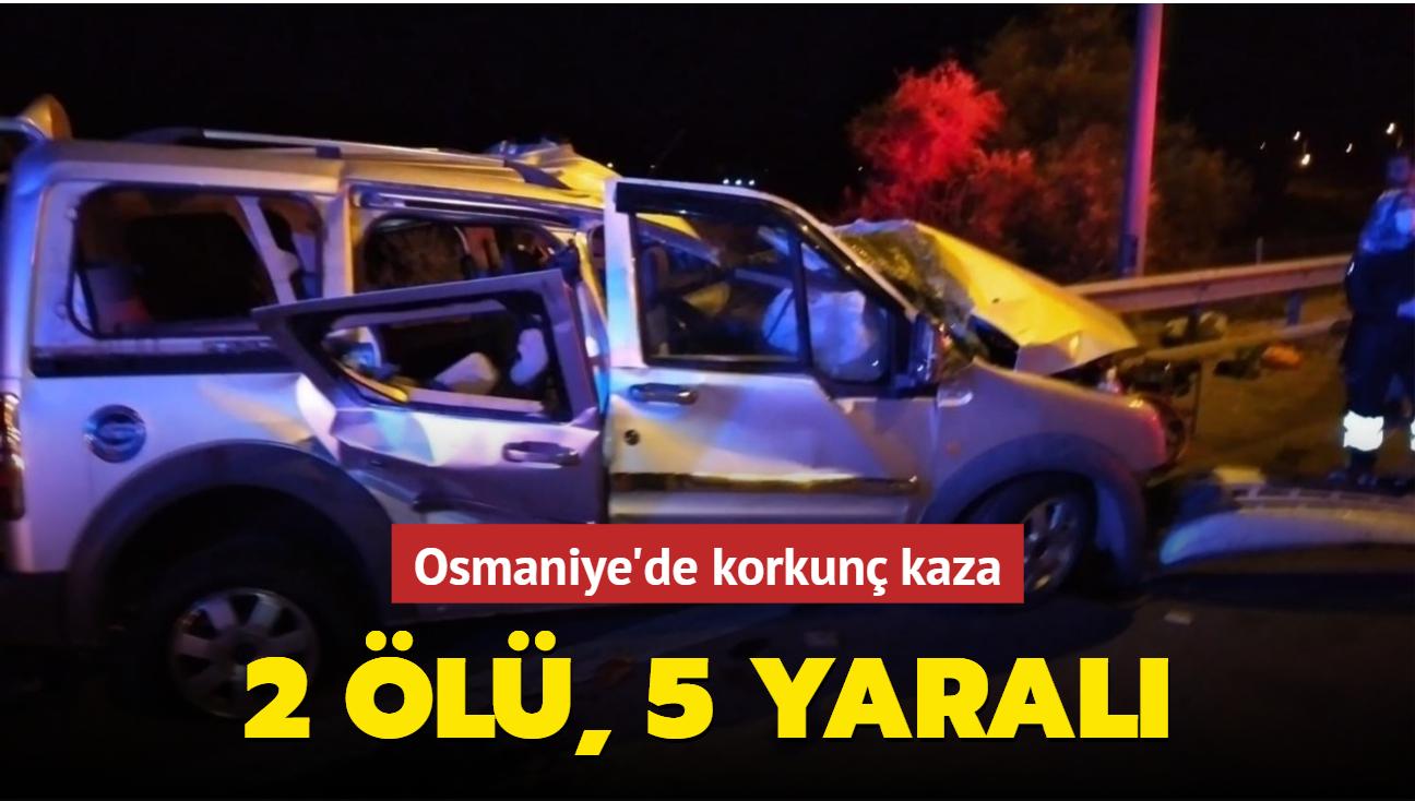Osmaniye'de korkunç kaza... 2 ölü, 5 yaralı