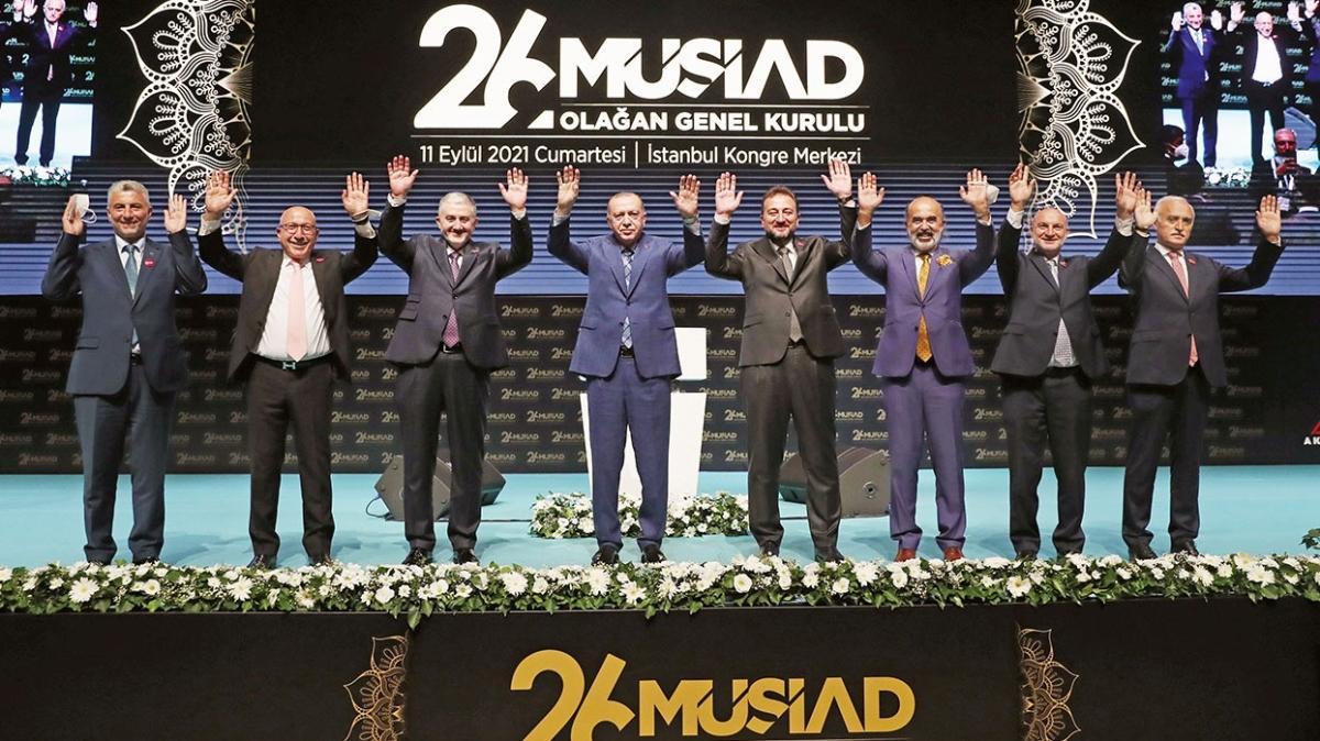 Başkan Erdoğan: Tüm badirelere rağmen hızlı toparlanıyoruz