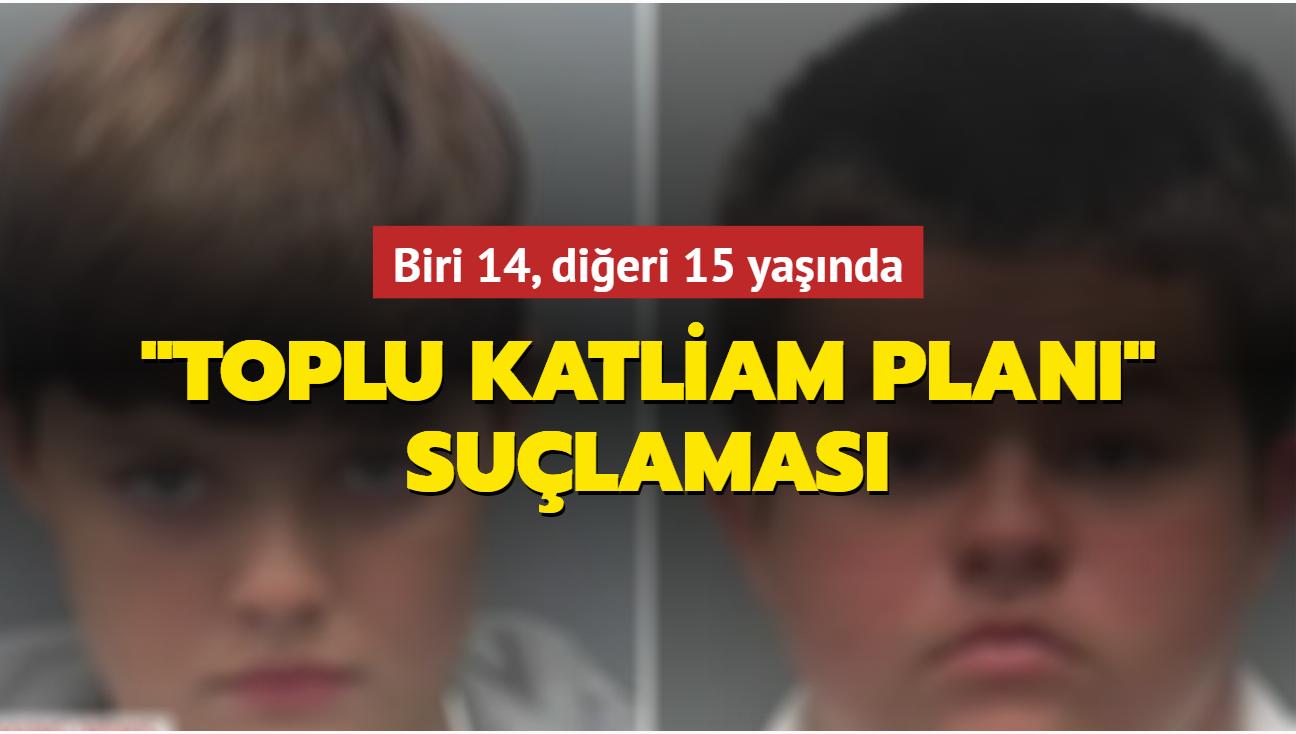 """Biri 14, diğeri 15 yaşında... """"Toplu katliam planı"""" yapmakla suçlanıyorlar"""