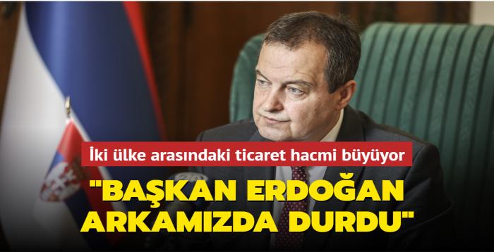 İki ülke arasındaki ticaret hacmi büyüyor: Başkan Erdoğan arkamızda durdu