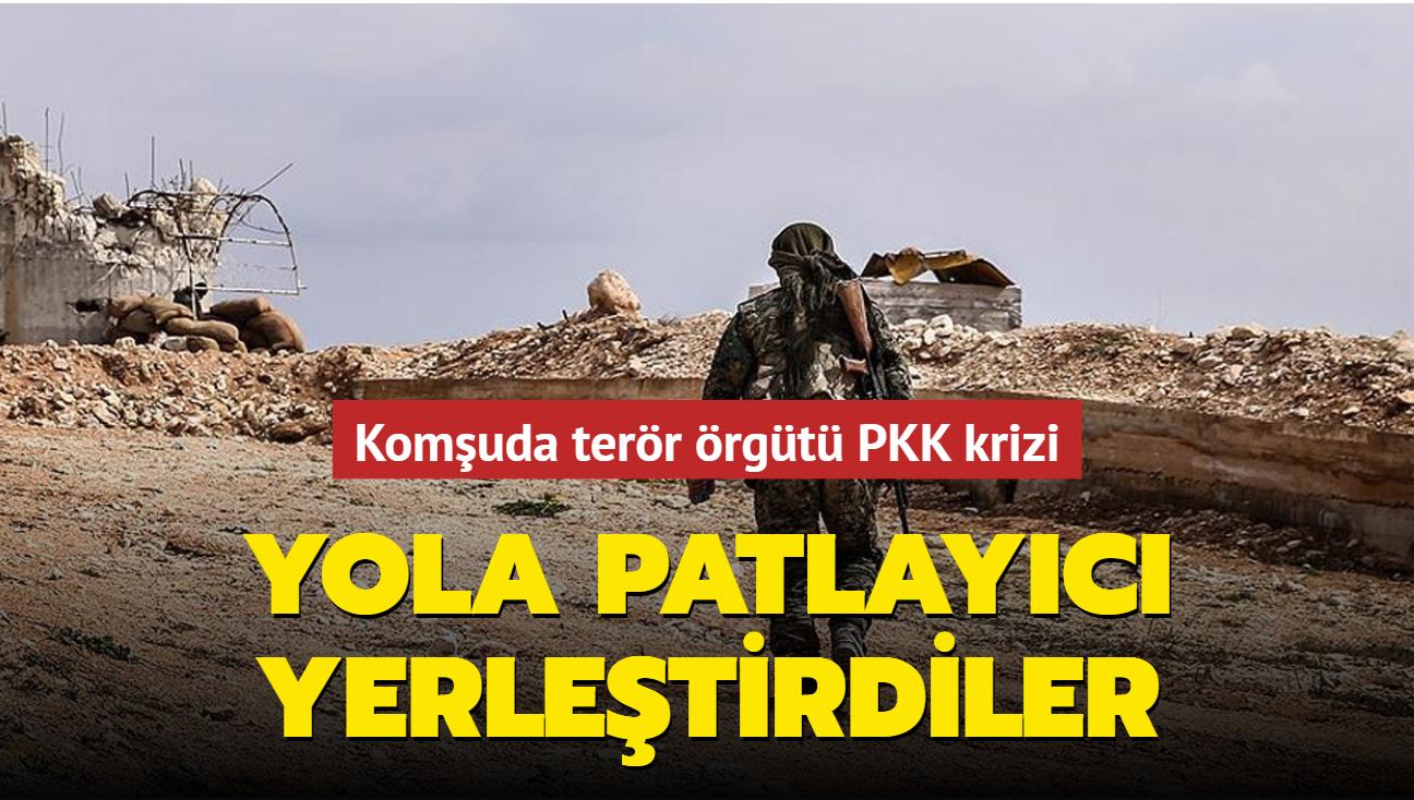Komşuda terör örgütü PKK krizi: Yola patlayıcı yerleştirdiler