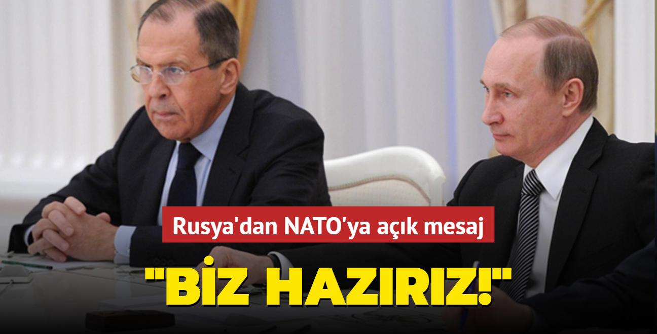 Rusya'dan NATO'ya mesaj: Görüşmeye hazırız