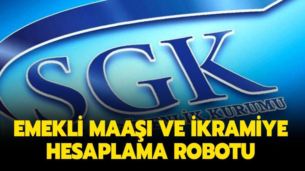 """SGK ne kadar emekli maaşı alırım"""" Emekli maaşı ve ikramiye hesaplama robotu burada!"""
