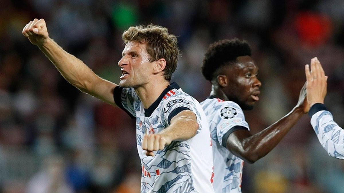 Thomas Müller Barça'yı 7. kez avlamayı başardı