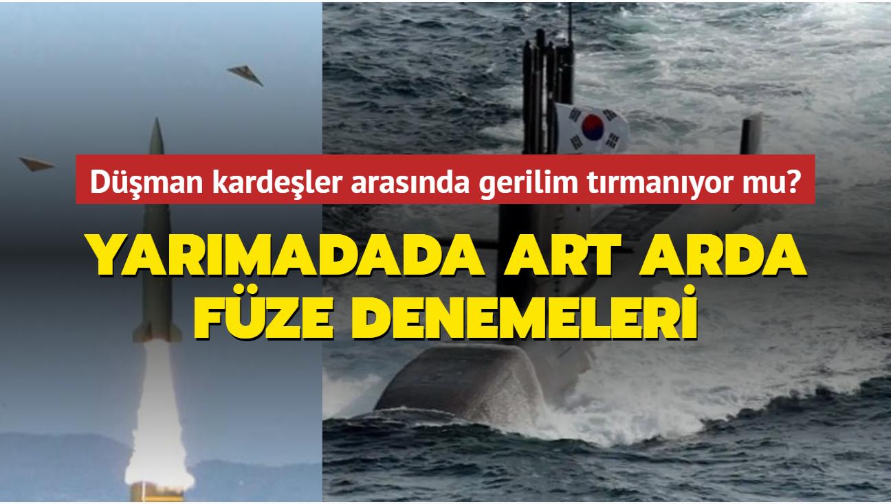 Yarımada'da art arda füze denemeleri... Bu kez Güney Kore denizaltından balistik füze test etti