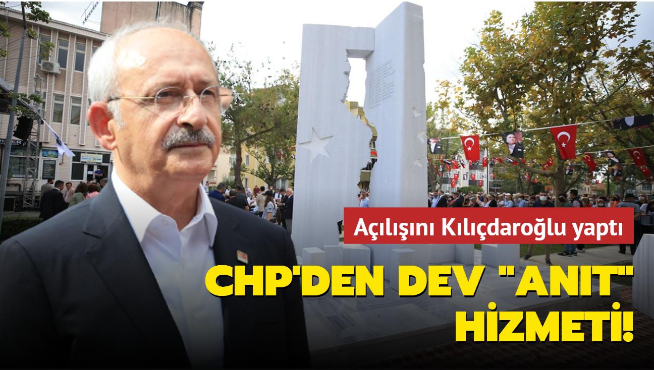 """Açılışını Kılıçdaroğlu yaptı: CHP'den dev """"anıt"""" hizmeti!"""