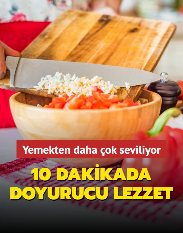 10 dakikada doyurucu salata tarifi