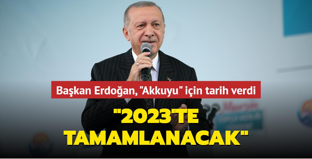 Başkan Erdoğan, 'Mersin Toplu Açılış Töreni'nde konuştu: 2023'te tamamlanacak