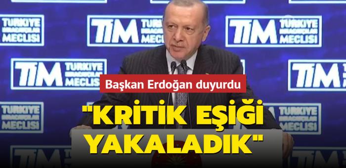 Başkan Erdoğan, TİM 28. Olağan Genel Kurulu'nda konuştu