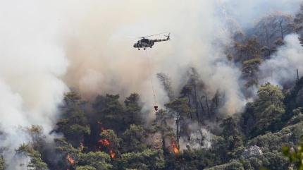 Marmaris'teki orman yangını kontrol altına alındı