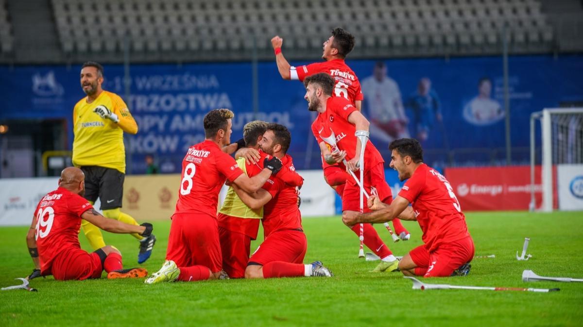 Ampute Milli Takımı Avrupa Şampiyonası'nda finale yükseldi