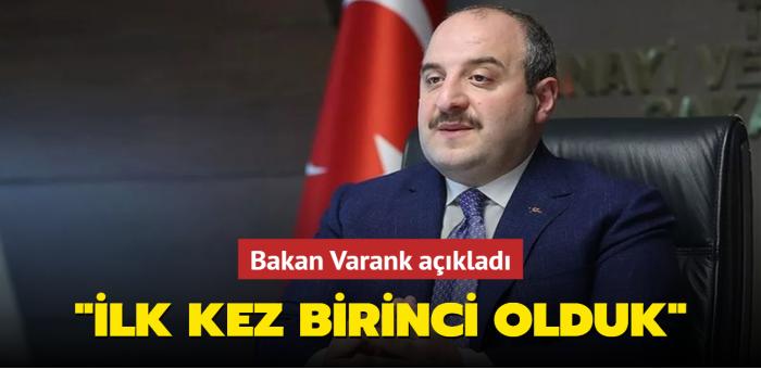"""Bakan Varank'tan """"Bilim İnsanları"""" açıklaması: İlk kez birinci olduk"""