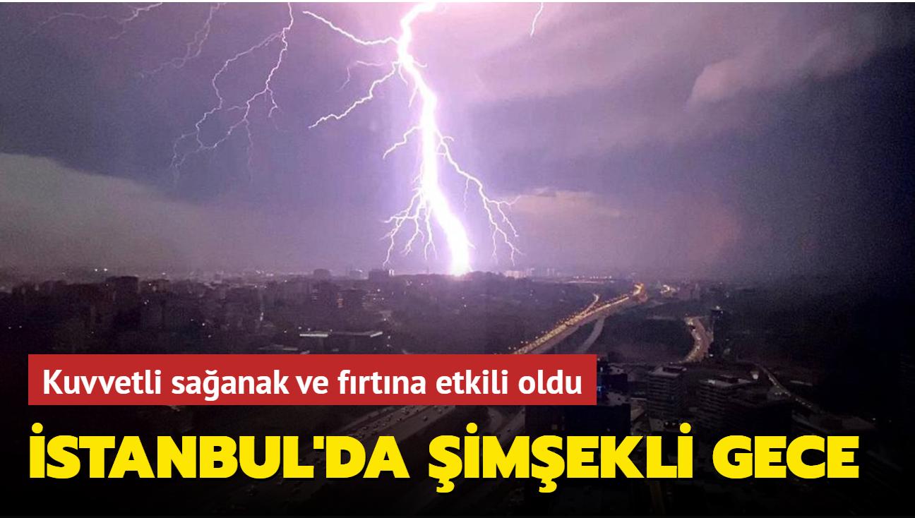 İstanbul'da kuvvetli sağanak ve fırtına çatıları uçurdu