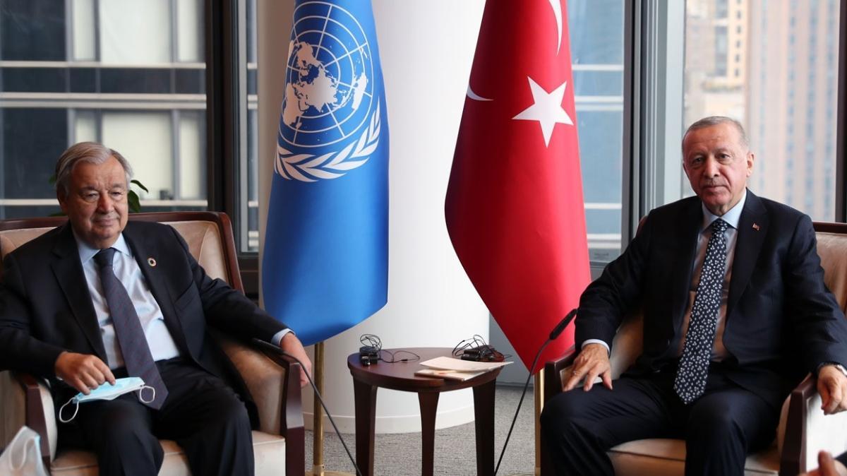 Başkan Erdoğan'dan Guterres ile görüşme