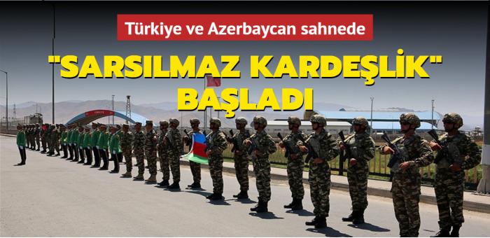 Türkiye ve Azerbaycan sahnede... Sarsılmaz Kardeşlik başladı