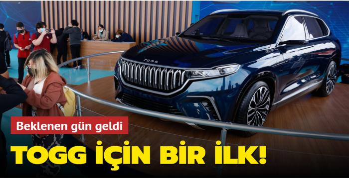 Beklenen gün geldi: Türkiye'nin otomobili TOGG için bir ilk