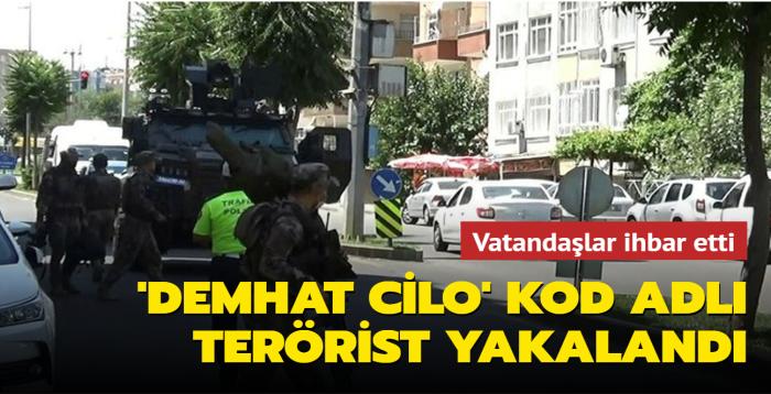 'Demhat Cilo' kod adlı terörist yakalandı