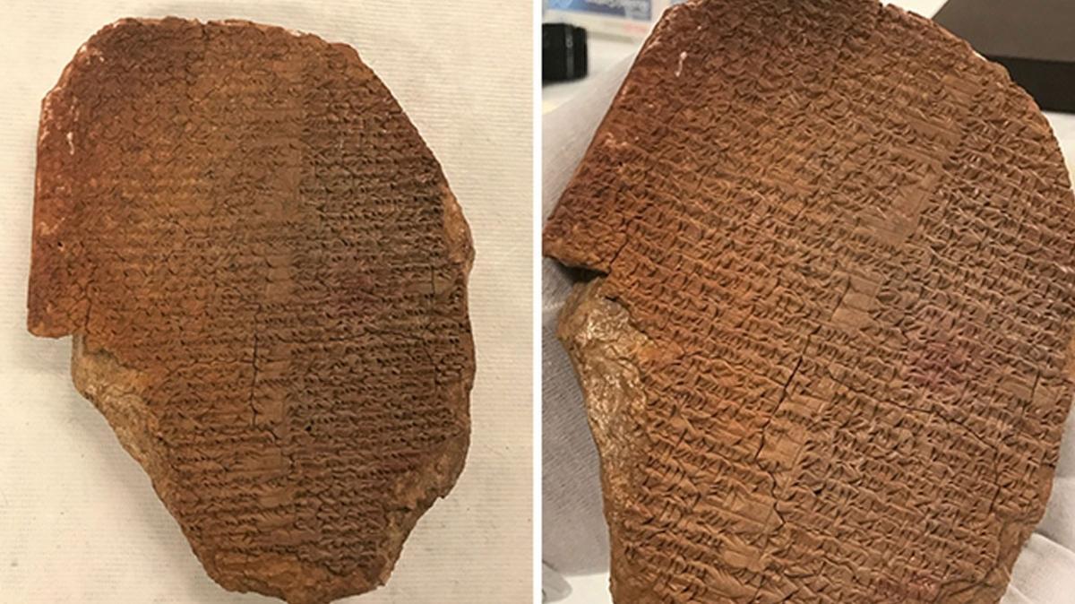 ABD'ye kaçırılmıştı... Irak 3500 yıllık Gılgamış tabletini geri alıyor