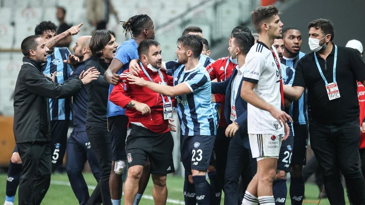 Maç bitti ortalık karıştı! Beşiktaş-Adana Demirspor'da tansiyon yükseldi