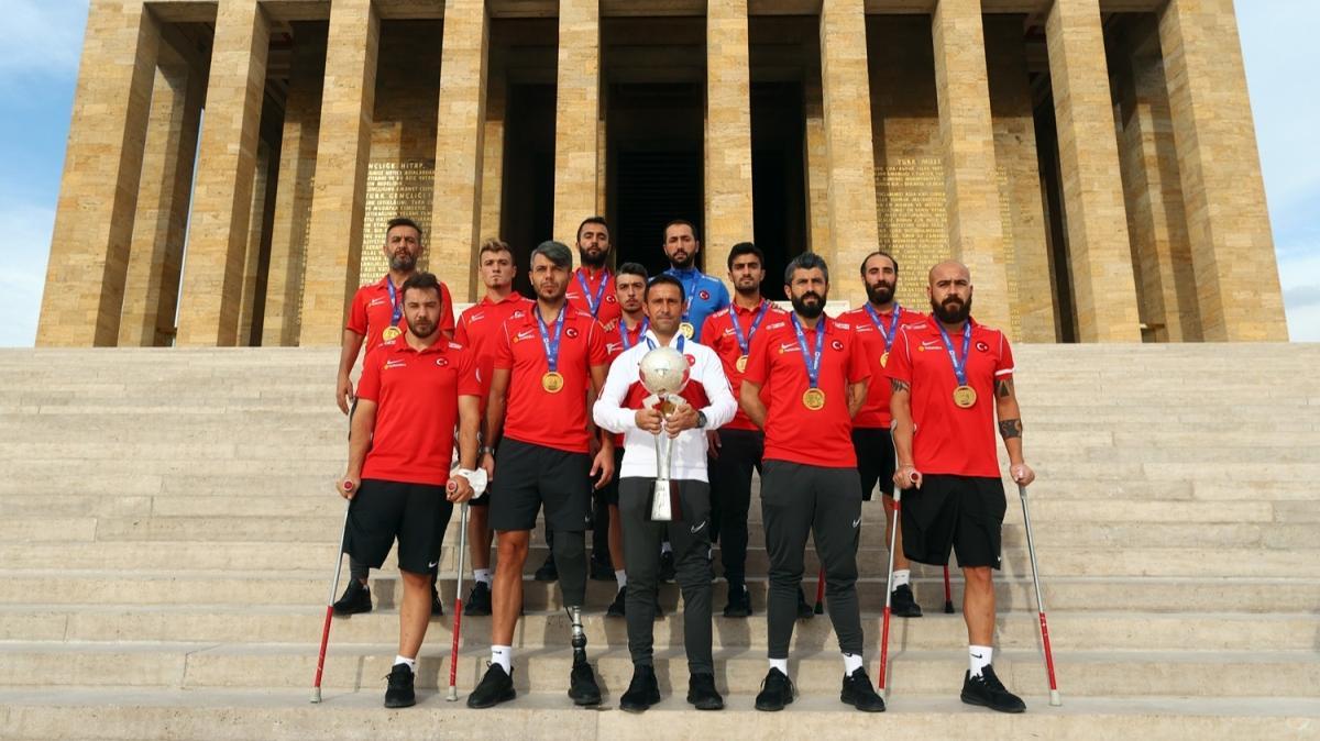 Avrupa Şampiyonu Ampute Milli Takımı, Anıtkabir'de