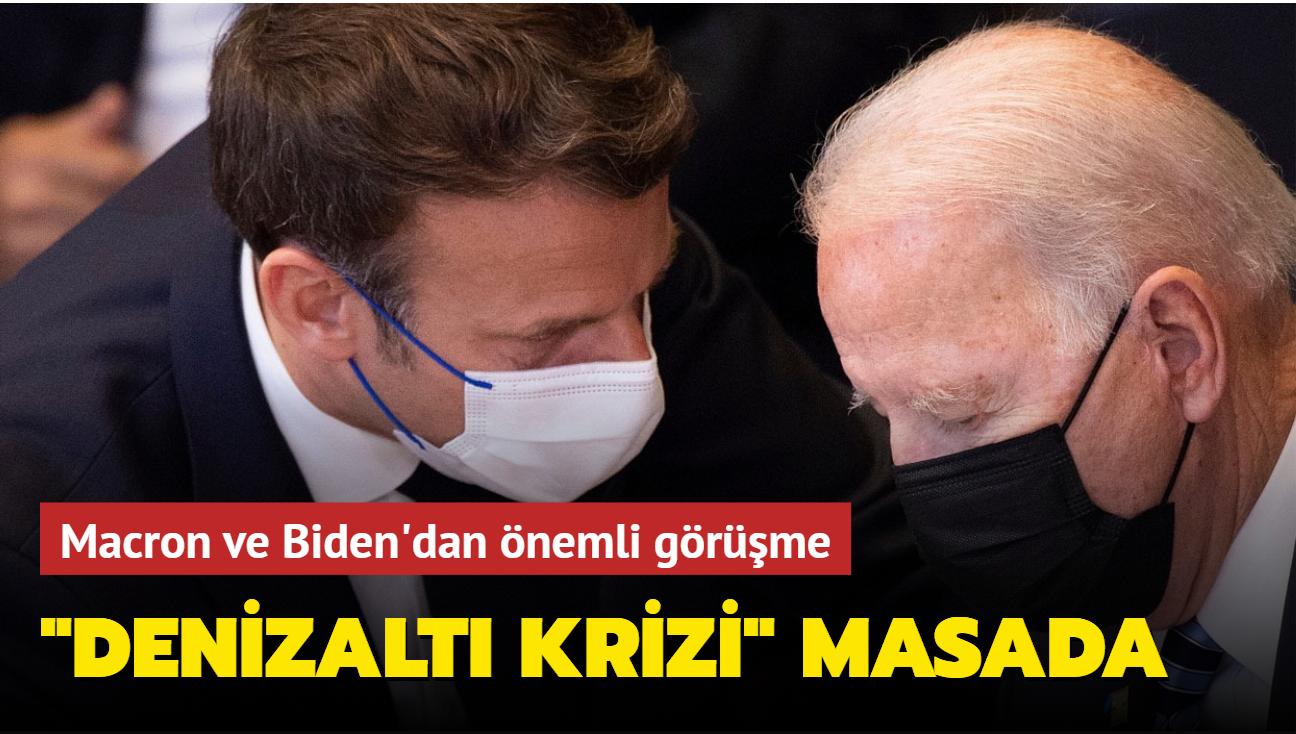 """Macron ve Biden'dan önemli görüşme: """"Denizaltı krizi"""" masada"""