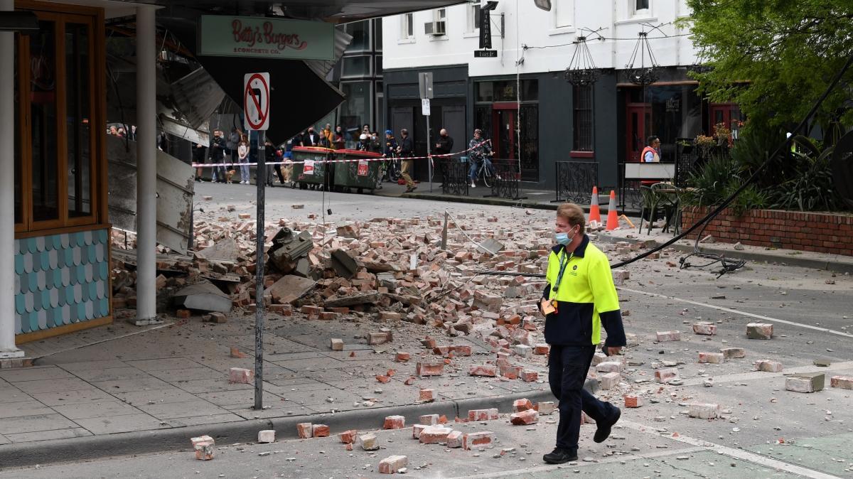 Avustralya'daki 5,8 büyüklüğündeki deprem hasara yol açtı