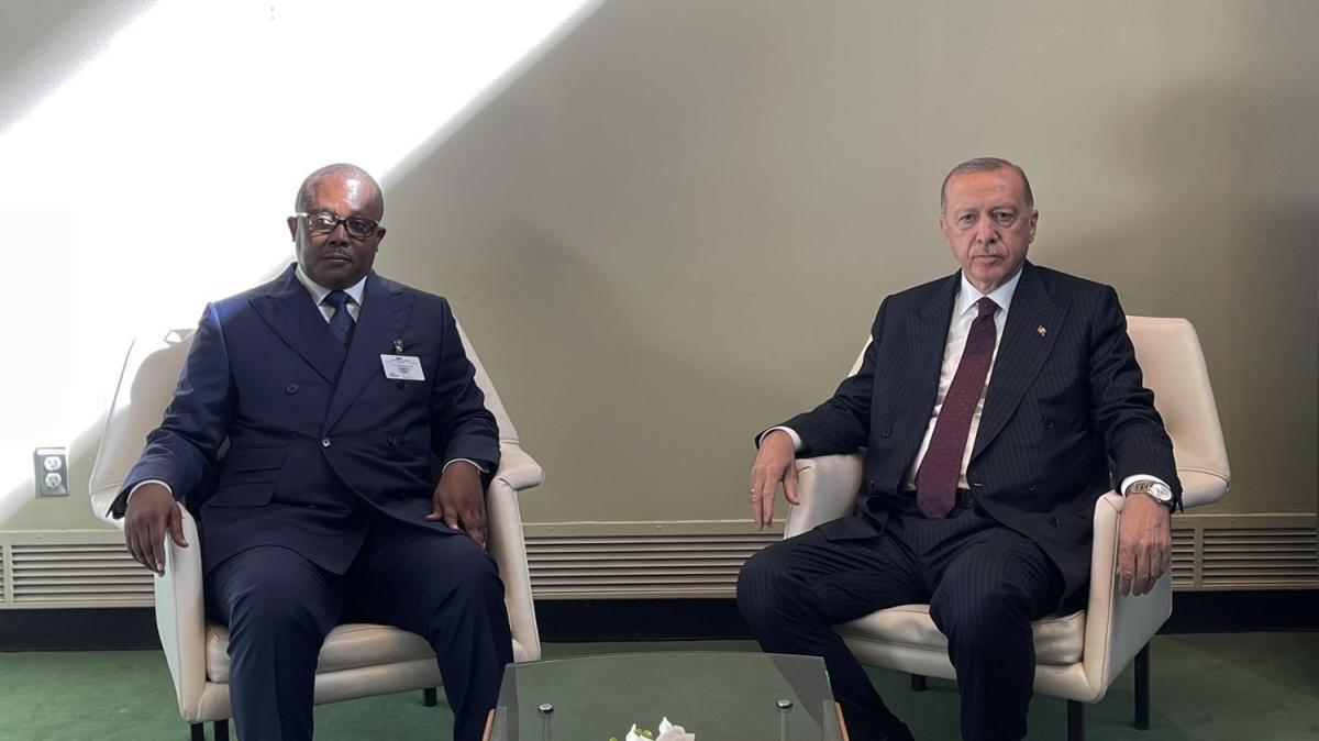 Başkan Erdoğan, Gine Bissau Cumhurbaşkanı Umaro Sissoco Embalo ile görüştü