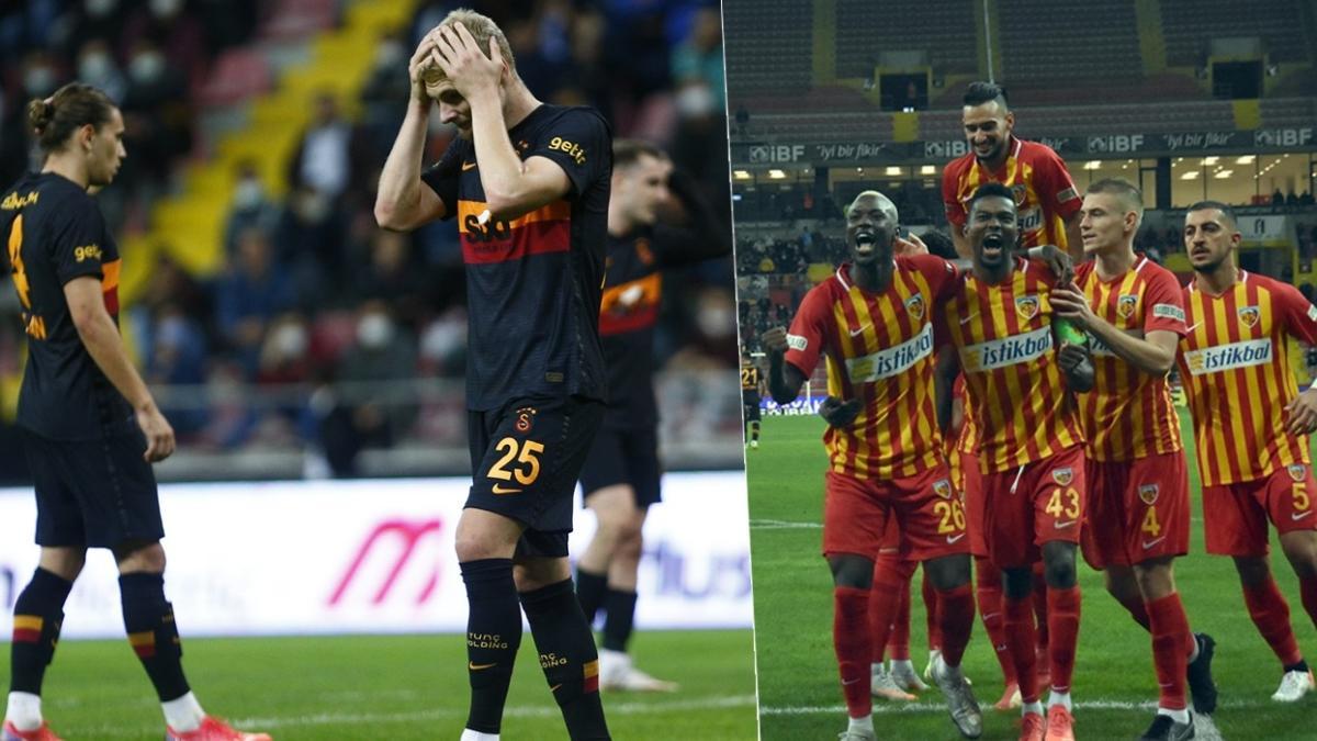 Hezimet! Maç sonucu: Yukatel Kayserispor-Galatasaray: 3-0