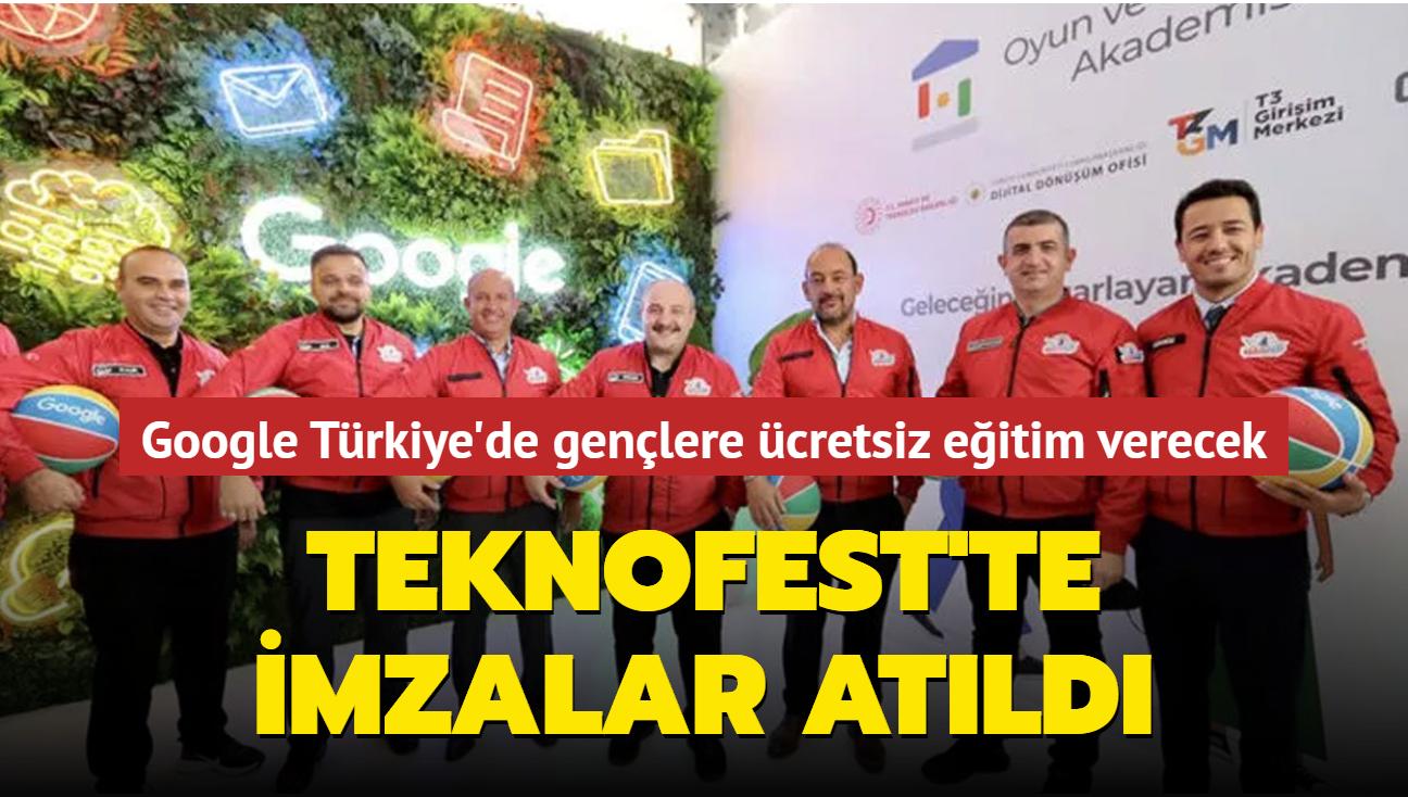TEKNOFEST'te imzalar atıldı... Google Türkiye'de gençlere ücretsiz eğitim verecek