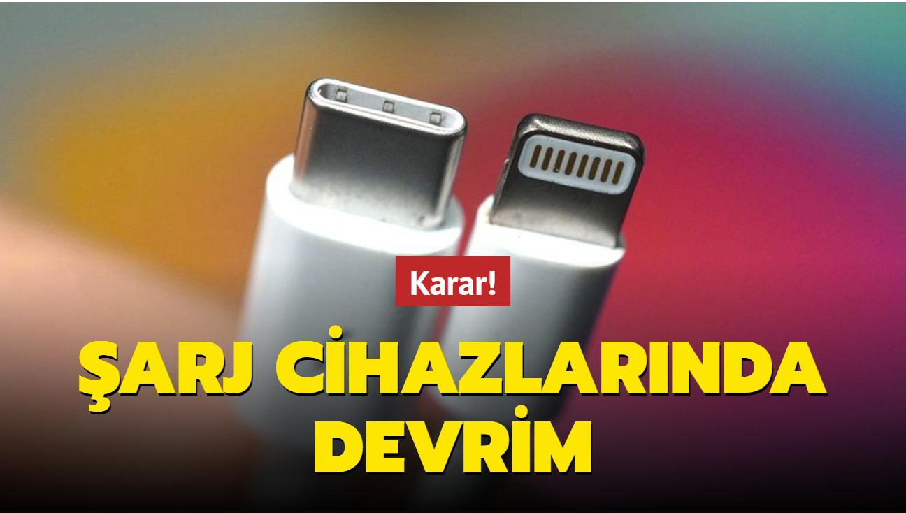 AB'de tüm şarj cihazları USB-C tipi olacak