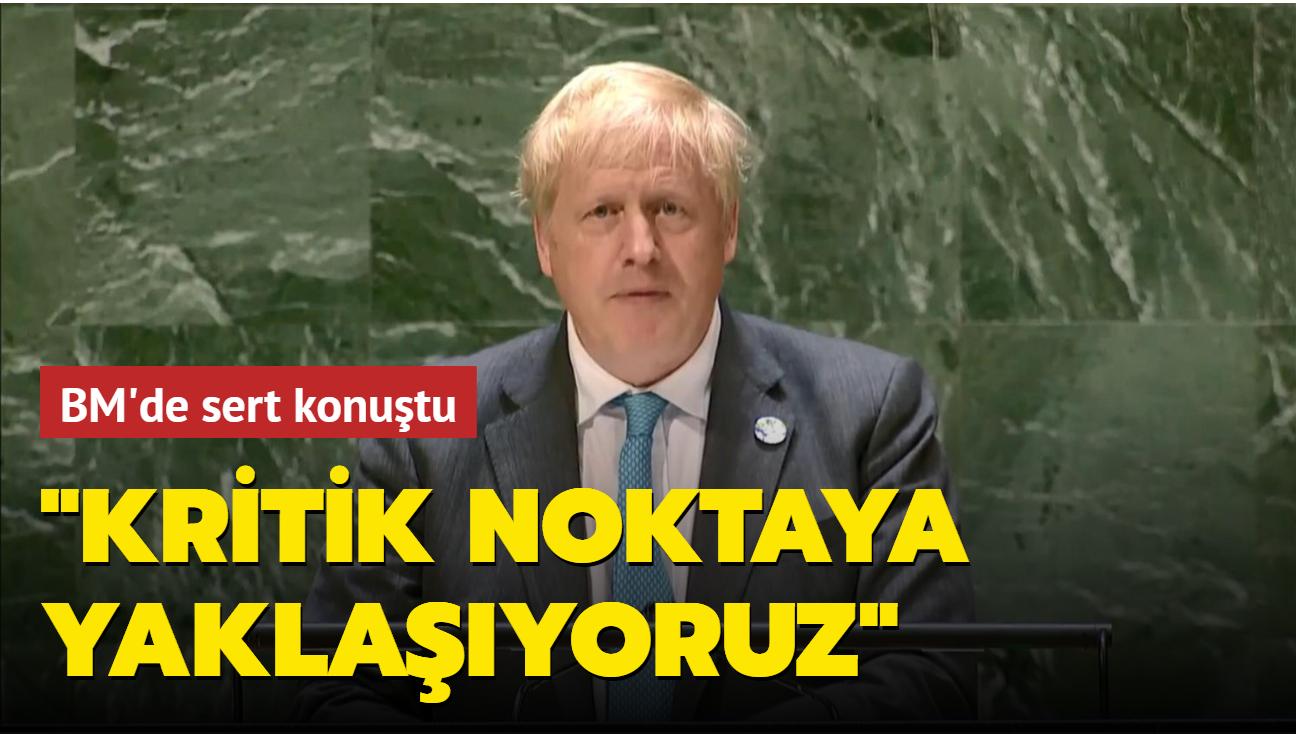Boris Johnson: Kritik noktaya yaklaşıyoruz