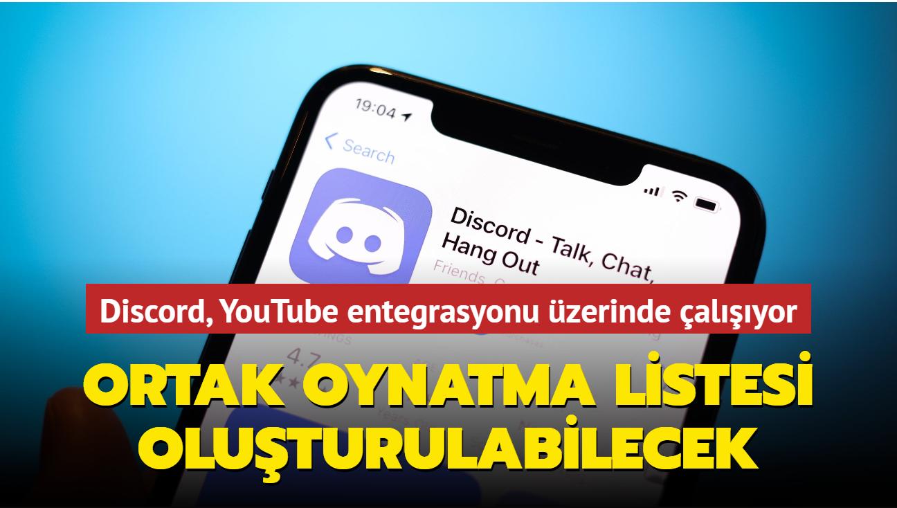 Discord, kullanıcıların YouTube videolarından ortak oynatma listesi oluşturabilecekleri bir özellik geliştiriyor